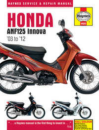 Honda ANF 125 ANF125 Innova Haynes Manual Repair Manual Workshop Manual 2003-2012