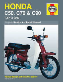Honda C50 C70 C90 Haynes Manual Repair Manual Workshop Manual 1967-2003