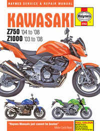 Kawasaki Z750 Z1000 Haynes Manual Repair Manual Workshop Manual 2003-2008