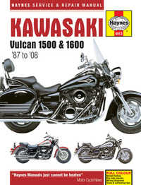 Kawasaki Vulcan VN 1500 1600 Haynes Manual Repair Manual Workshop Manual 1987-2008