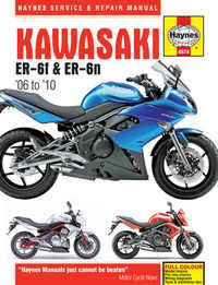 Kawasaki ER 6N 6F Haynes Manual Repair Manual Workshop Manual 2006-2010