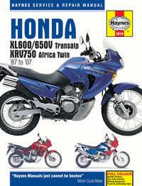 Honda XRV 750 Haynes Manual Repair Manual Workshop Manual 1990-2003