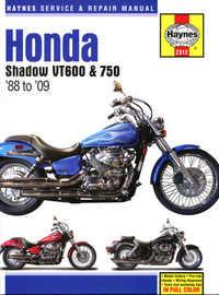 Honda VT 600 750 Haynes Manual Repair Manual Workshop Manual 1988-2009