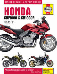 Honda CBF 1000 CBF1000 Haynes Manual Repair Manual Workshop Manual 2006-2010