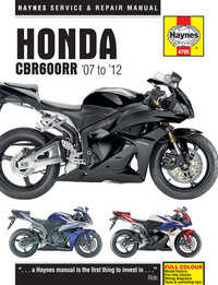 Honda CBR 600 CBR600RR Haynes Manual Repair Manual Workshop Manual 2007-2012