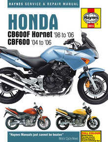 Honda CB 600F Hornet Haynes Manual Repair Manual Workshop Manual 1998-2006