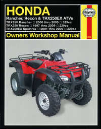 Honda TRX 250 350 Haynes Manual Repair Manual Workshop Manual 2000-2009