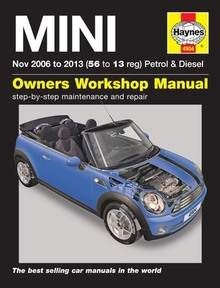 Mini Haynes Manual Repair Manual Workshop Manual Service Manual 2006-2013