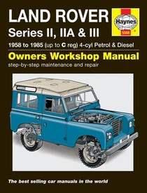 Land Rover Defender Series II IIA III Haynes Manual Repair Manual Workshop Manual Service Manual
