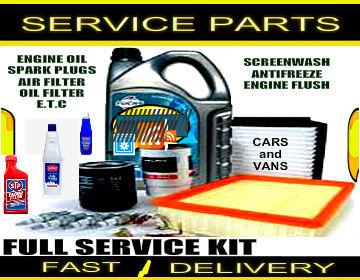 Peugeot 1007 1.4 Engine Oil Spark Plugs Filters Fluids Service Parts Kit