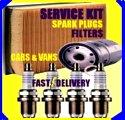 Peugeot 406 2.0 Air Filter Oil Filter Spark Plugs Fuel Filter 1999-2003