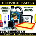 Peugeot 307 1.6 Engine Oil Spark Plugs Filters Fluids Service Parts Kit