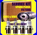 Renault Scenic RX4 2.0 Oil Filter Air Filter Fuel Filter Spark Plugs  1999-2002