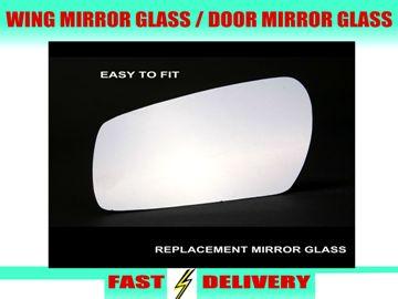 Bmw 5 Series Wing Mirror Glass Passenger's Side Nearside Door Mirror Glass 2003-2008 E60 E61