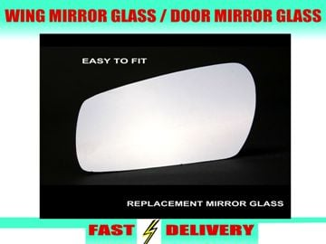 Chrysler Grand Voyager Wing Mirror Glass Passenger's Side Nearside Door Mirror Glass 1997-2010