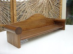 Long Curved Back Bench.