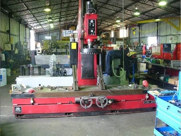 amc cm 2500 milling and boring machine