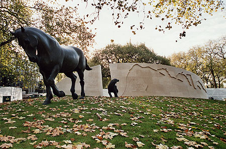 The Animals in War Memorial in London.  They had no choice
