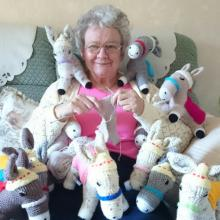 Help donkeys as you knit