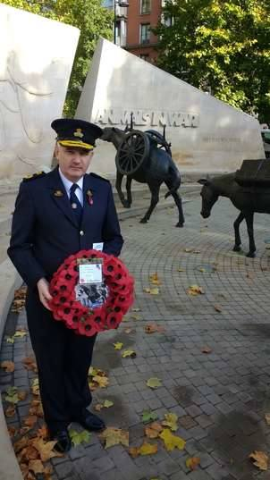 The RSPCA remembered animals in war today