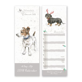 Wrendale A Dog's Life Slim Calendar, 2018 and others