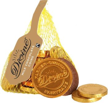 Divine Fairtrade Milk Chocolate Coins - 65g
