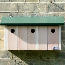 There are also nest boxes for specific species such as this one for sparrows