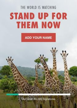 URGENT Stand up for African wildlife now