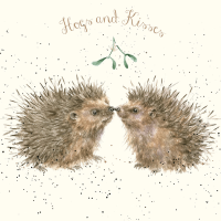This is the Hogs and Kisses Christmas card from the British Hedgehog Preservation Society