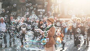 The RSPCA has alternatives to sky lanterns and balloons - why not send up bubbles instead?