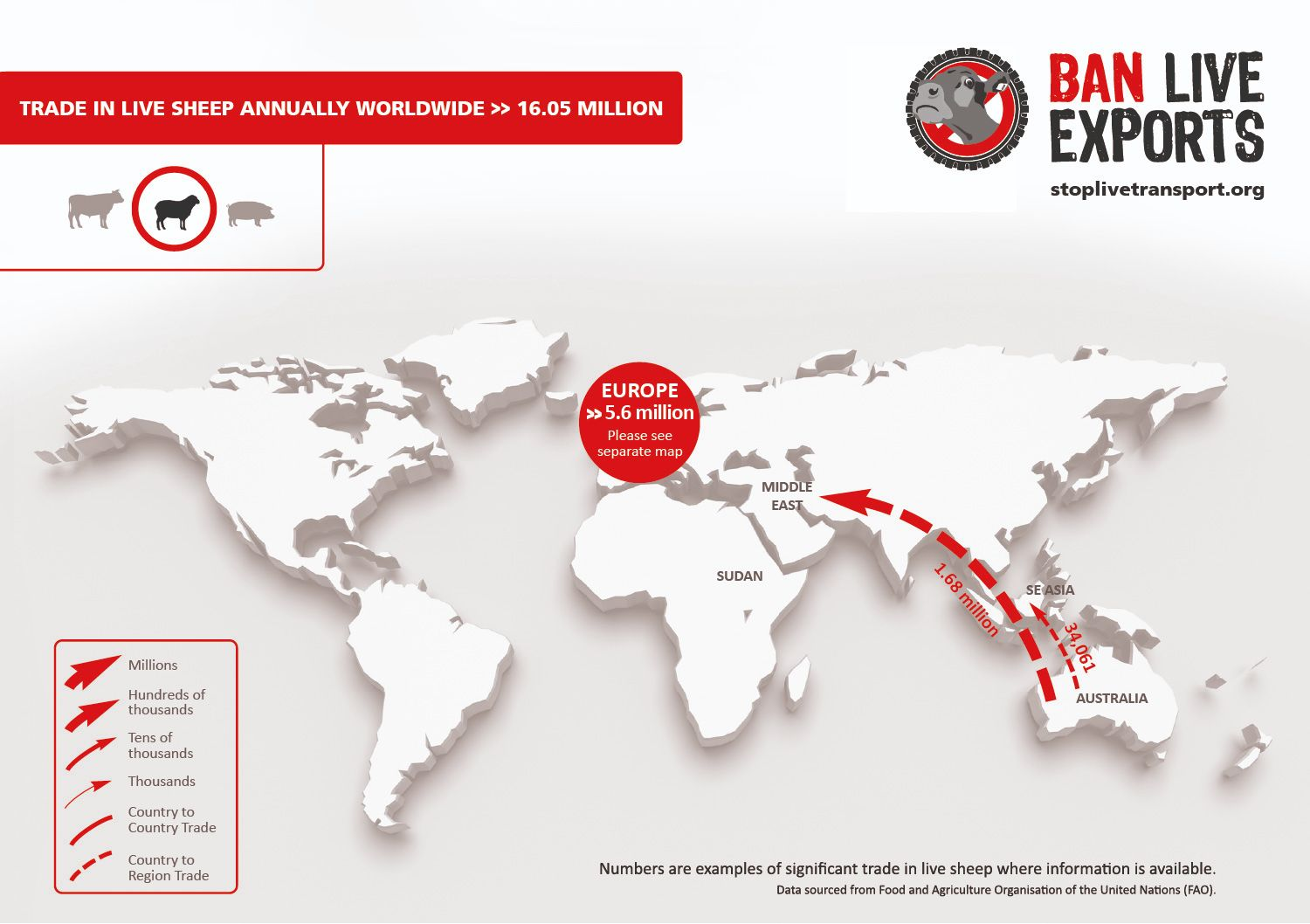 Ban Live Export - see where else it takes place in the world