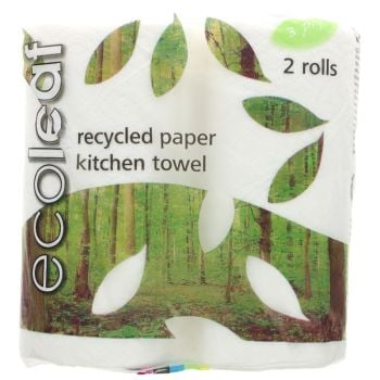 This Ecoleaf Paper Kitchen Towel is recycled - it's available from Natural Collection