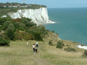 White cliffs of Dover walking holiday in Kent, England