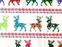 multi reindeer cotton