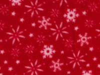 Fleece - Red Snowflakes