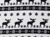 Blk wht Reindeer fleece