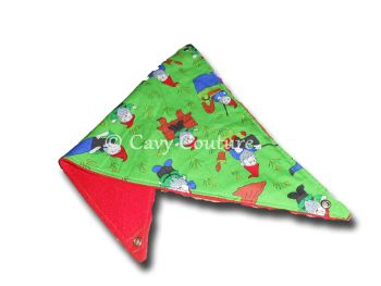 Medium Corner Hammock -  Gnomes cotton and Red Fleece