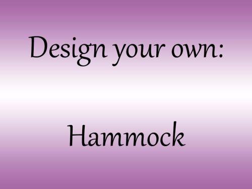 <!--001-->Design your own Hammock
