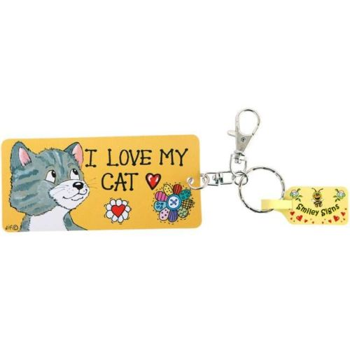 Keyring - 'I love my Cat'