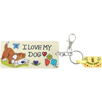 Keyring - 'I love my Dog'