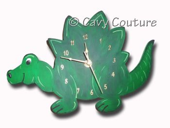 Hand painted Wooden Dinosaur Wall clock