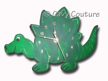 Hand painted Wooden Dinosaur Wall clock