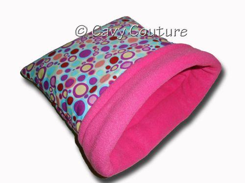 <!--008-->Medium Hedgie Bag - Bubbley Cotton with Cerise Pink fleece