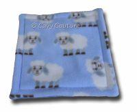 <!--008-->Soaker Pad - Blue Sheep and Mid Blue Fleece