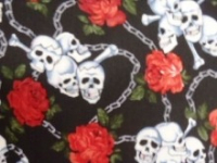 Cotton - Chained skulls