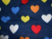 fleece - navy hearts