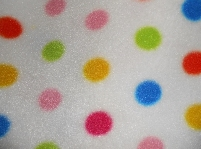 fleece - multicoloured dots