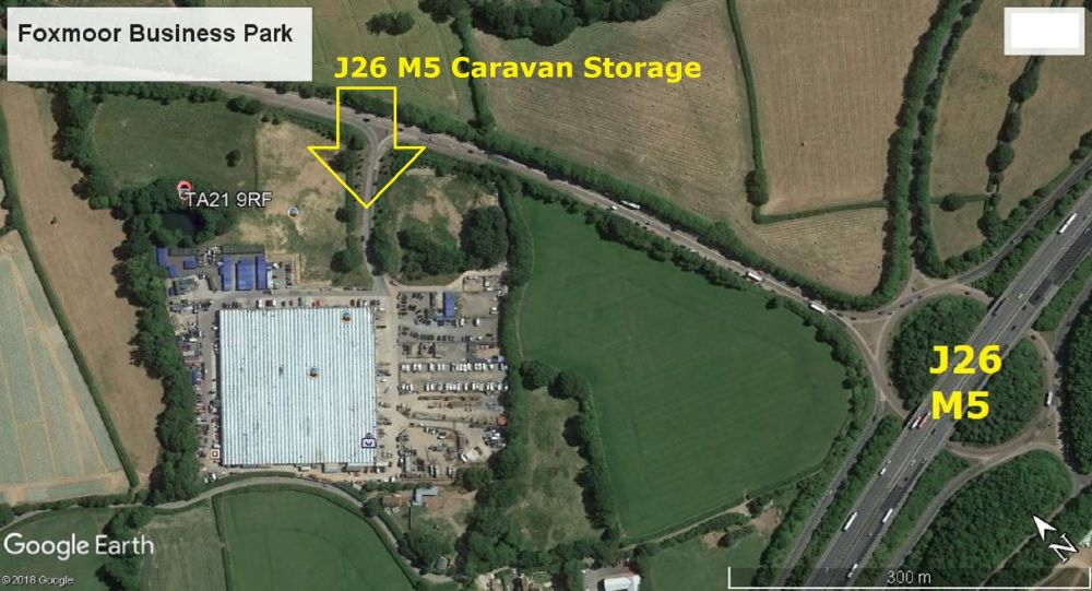 J26 M5 Caravan Storage - aerial view