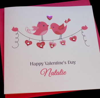 Love Birds & Bunting Card