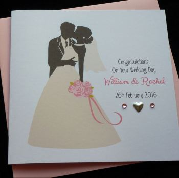 Bride & Groom Wedding Card